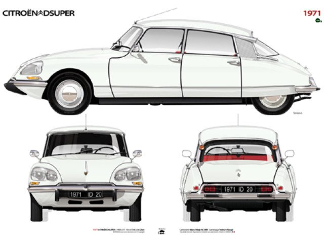Amazing Citroen DS illustration.