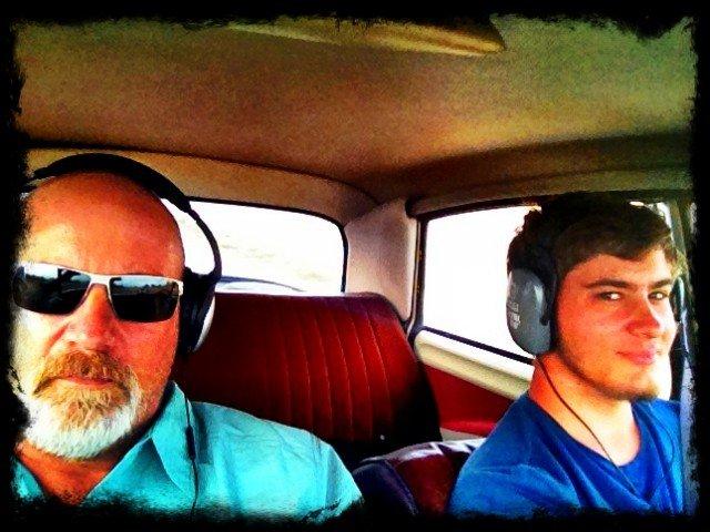 Road Trip car stereo… Headphones.