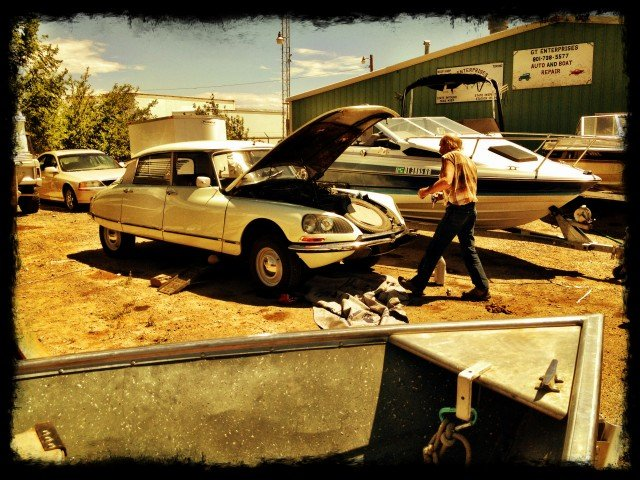 Citroen DS with Utah's OTHER Finest.