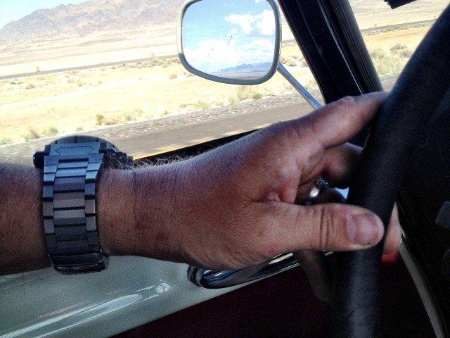 Driving a DS in the Utah Desert.