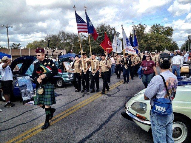 The Bastrop Veterans Car Show.