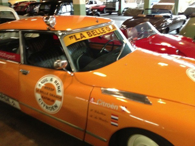 Citroen DS rally racer at the Lane Museum